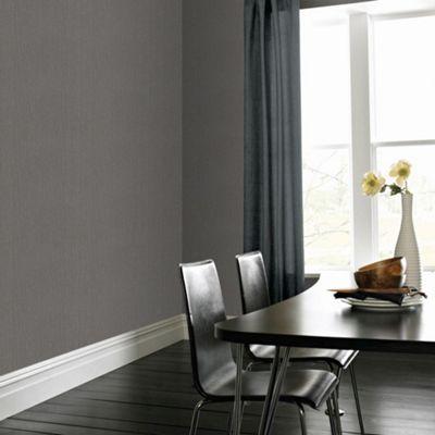 Superfresco Easy Paste The Wall Textile Grey Textured Plain Wallpaper