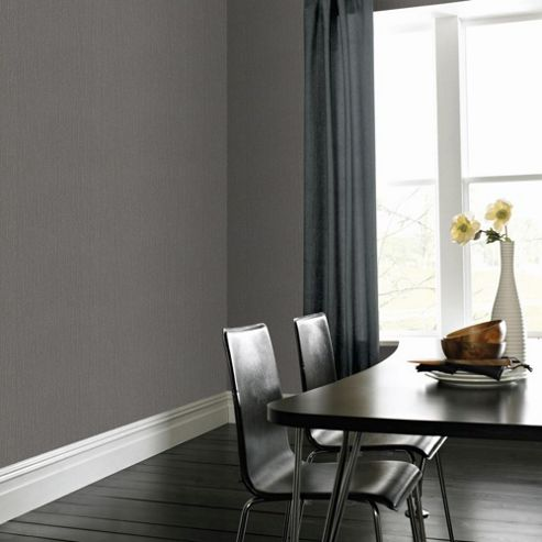 Superfresco Easy Paste The Wall Textile Grey Textured Plain Wallpaper