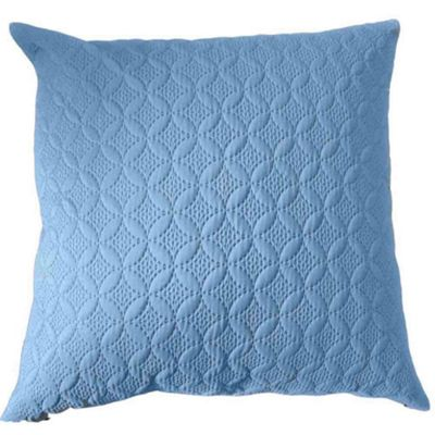 Homescapes Ultrasonic Blue Quilted Embossed Cushion Cover, 80 x 80 cm