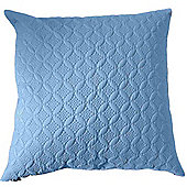 Homescapes Ultrasonic Blue Quilted Embossed Filled Cushion, 80 x 80 cm