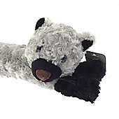Country Club Smart Pets Microfleece Draught Excluder, Grey Cat