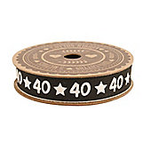40th Birthday Gift Wrapping Ribbon