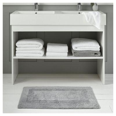 Fox & Ivy Egyptian Cotton Silver Bath Mat