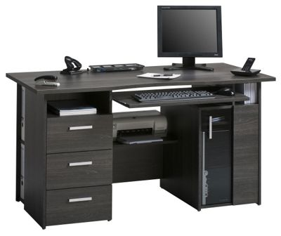 Maja Capital Anthracite Oak Computer Desk