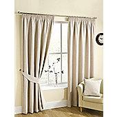 Ribeiro Chenille Pencil Pleat Curtains, Champagne 229x229cm