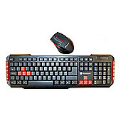Dynamode 2.4Ghz Wireless Keyboard and Optical Mouse Set Gaming/Home/Office