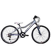 "Tiger Angel FS 24"" Wheel Junior Mountain Bike Purple Pink"