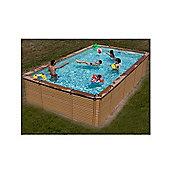 Zodiac Azteck Maxiwood Rectangular Wooden Pool 4m x 5.6m