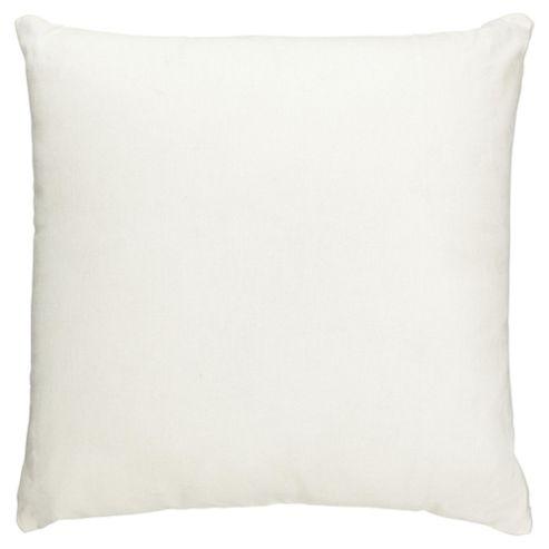 Tesco Value Cotton Cushion, Cream