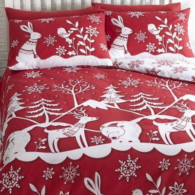 Mountain Snow, Christmas Themed Single Bedding