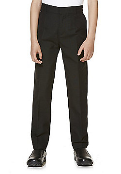 "F&F School 2 Pack of Boys Teflon EcoElite""™ 'You Buy One, We Donate One' Flat Front Slim Leg Trousers - Black"