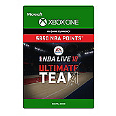 NBA LIVE 18: NBA UT 5850 Points Pack (Digital Download Code)