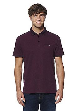 F&F Signature Premium Cotton Polo Shirt - Purple
