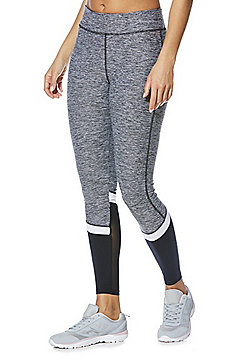 F&F Active Colour Block Quick Dry Leggings - Grey