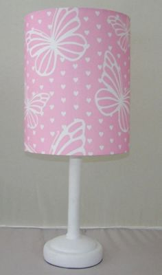 Delicate Butterfly, Bedside Lamp with Fabric Shade