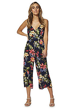 F&F Floral Cami Culotte Jumpsuit - Navy Multi