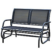 Outsunny 2 Seater Glider Rocking Bench with Textiline Cloth