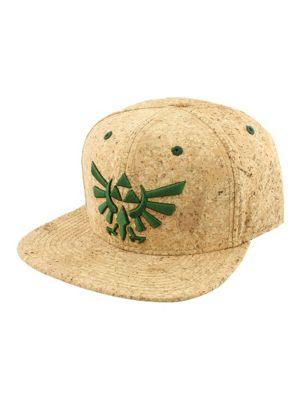 Legend of Zelda Nintendo Triforce Logo Cork Snapback Cap