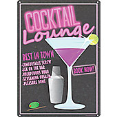 A Cheeky Cocktail Tin Sign