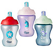 Tommee Tippee Training 230ml Soft Straw Cup 7m+│Non-Spill│Assorted Colours│New