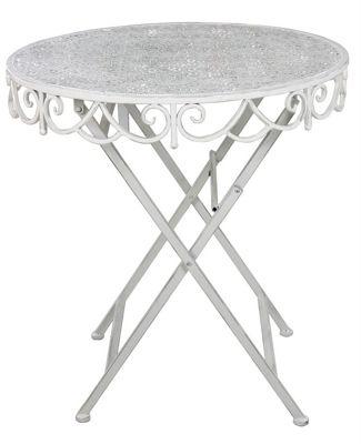 Antique White Metal Round Table