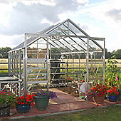 Rhino Premium Greenhouse – 8x12 - Natural Aluminium Finish
