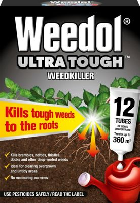 Weedol Ultra Tough Weedkiller - 12 Tubes
