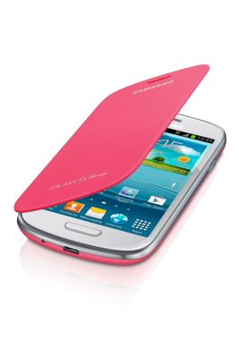 Samsung Original Leather Flip Case for Galaxy S3 Mini - Pink