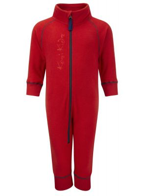 Kozi Kidz Early Years Microfleece All-in-One - Blue/Red/Cerise/Char Grey Orange