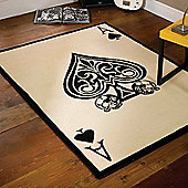 Retro Ace of Spades Rugs 120x160cm