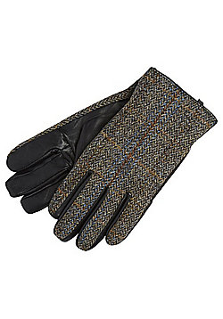 F&F Harris Tweed Gloves - Multi