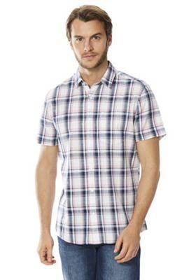 F&F Checked Short Sleeve Shirt Multi 3XL