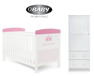 Obaby Grace Inspire Cotbed and Wardrobe Set - Little Princess