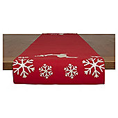 Deck the Halls Reindeer Runner Red and Gold