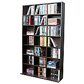 Pigeon Hole - 588 Cd / 378 Dvd Blu-ray Media Storage Unit - Dark Oak