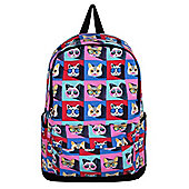 Cool Cat Faces Canvas Backpack 36x46cm