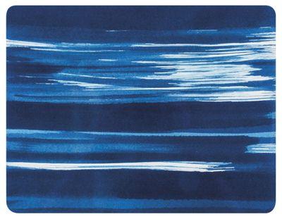 Ladelle Wade Blue 33cm x 25.5cm Placemats, Set of 4