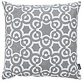 Rocco Azure Cushion Cover 43x43cm - Grey