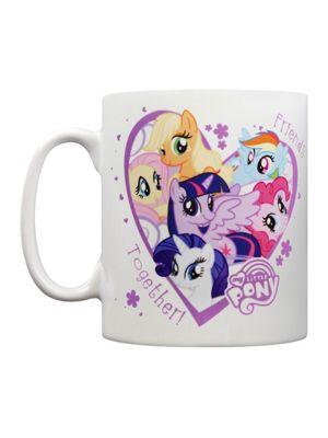 My Little Pony Friends Together 10oz White Ceramic Mug