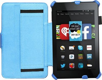 Navitech Blue Book Style Case / Cover with Stand for the Kindle Fire HD 6 6 inch