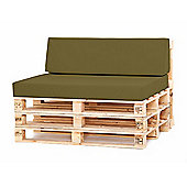 Water Resistant Pallet Small Back Cushion - Olive