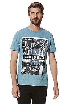F&F San Francisco City Scene Print T-Shirt - Blue