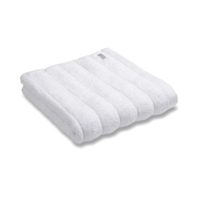 Bianca Cotton Soft Ribbed Pair Of Face Towels - White