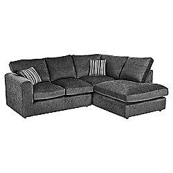 Taunton Right Hand Corner Sofa, Dark Grey