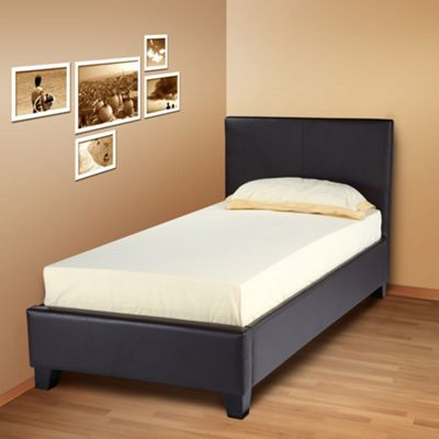 Joseph Intl Elva Bed - Single 3'0 - Brown Leather