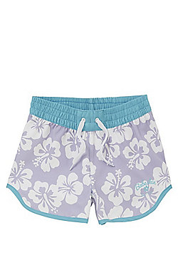 Babeskin Tropical Print Dolphin Shorts - Lilac