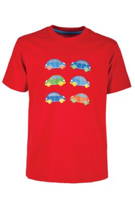 Car Kids Tee Shirt Short Sleeve 100% Cotton Round Neck T-Shirt Top