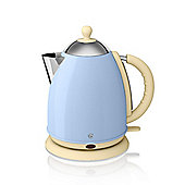Swan Retro Jug Kettle, 1.7L - Blue