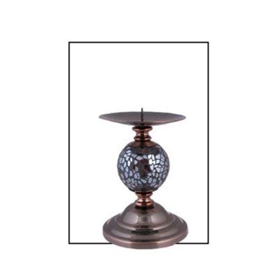 Bronze Mosaic one ball Candlestick