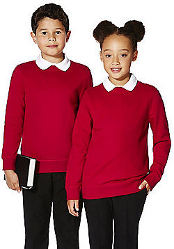 F&F School Unisex Sweatshirt with As New Technology - Red